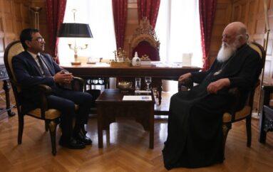 Συνάντηση Αρχιεπισκόπου με τον Γ. Γ. Κοινωνικής Αλληλεγγύης