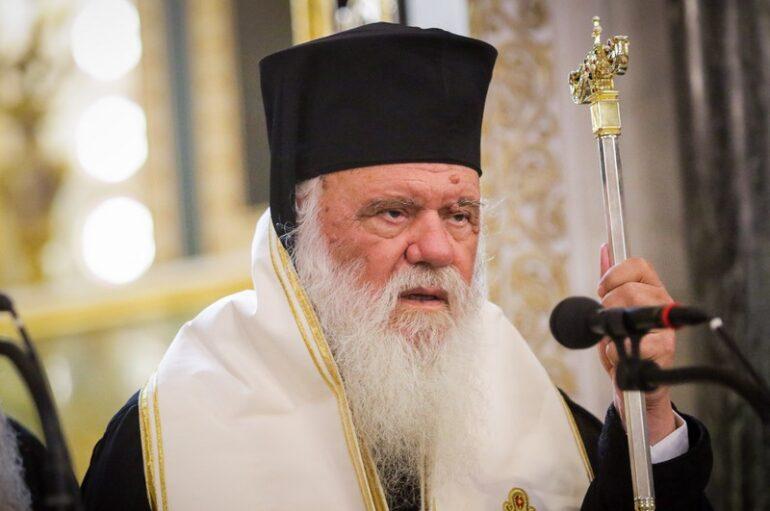 Ο Αρχιεπίσκοπος στον Ακάθιστο Ύμνο στον Καθεδρικό Ι. Ναό Αθηνών