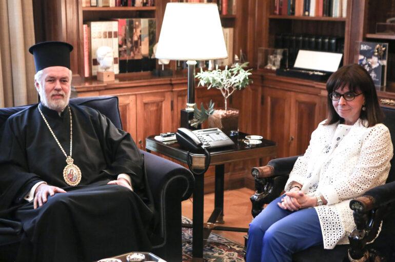 Την Πρόεδρο της Δημοκρατίας επισκέφθηκε ο Μητροπολίτης Βελγίου