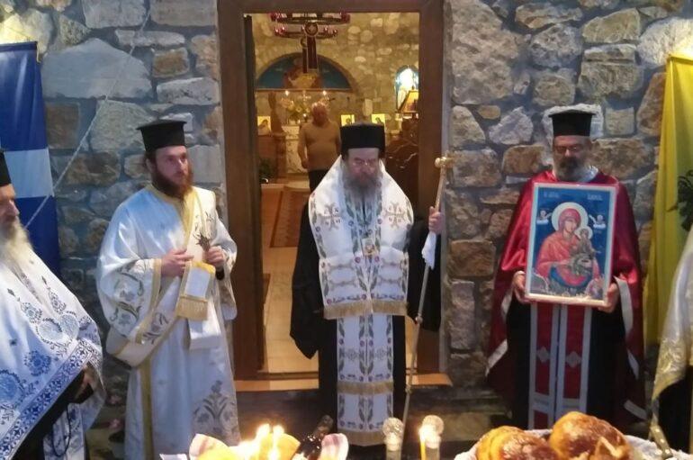 Αρχιερατικός Εσπερινός της Αγίας Άννης στον Άγιο Πρόδρομο Χαλκιδικής