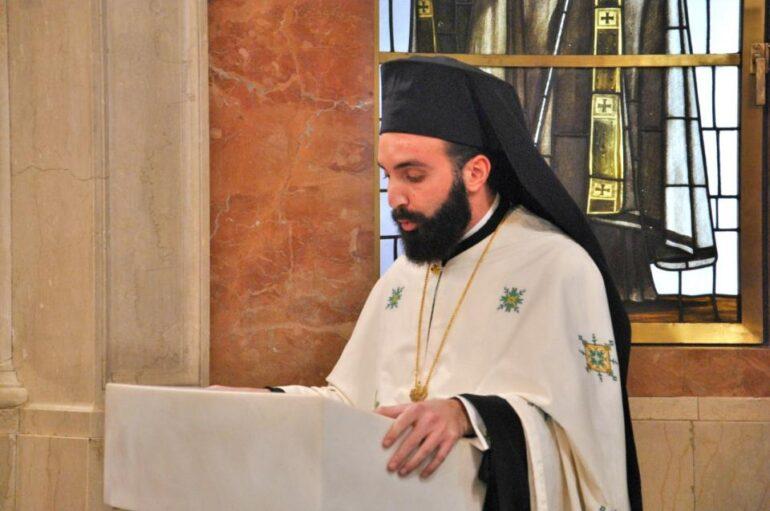 Ο Αρχιμ. Νεκτάριος Δαρδανός Πρωτοσύγκελλος στην Ι. Μ. Ύδρας