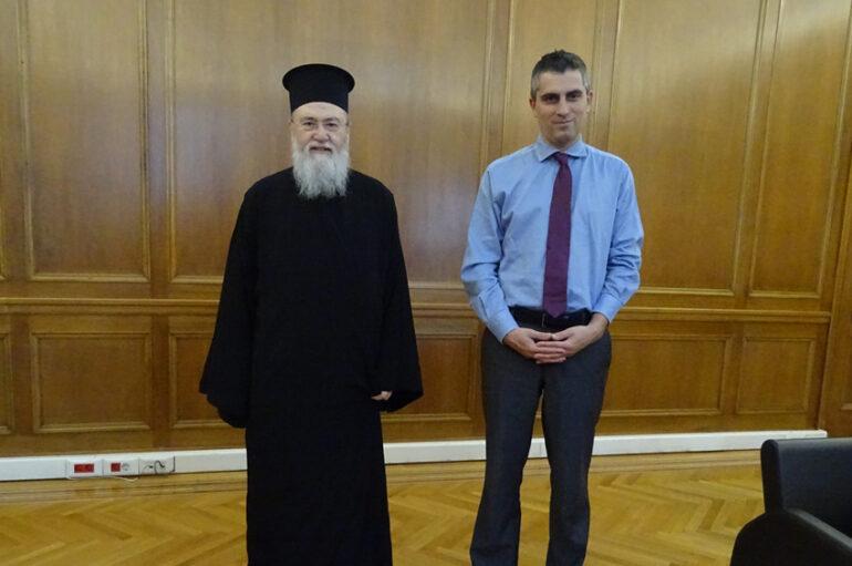 Τον Υφυπουργό Ανάπτυξης επισκέφθηκε ο Μητροπολίτης Κορίνθου