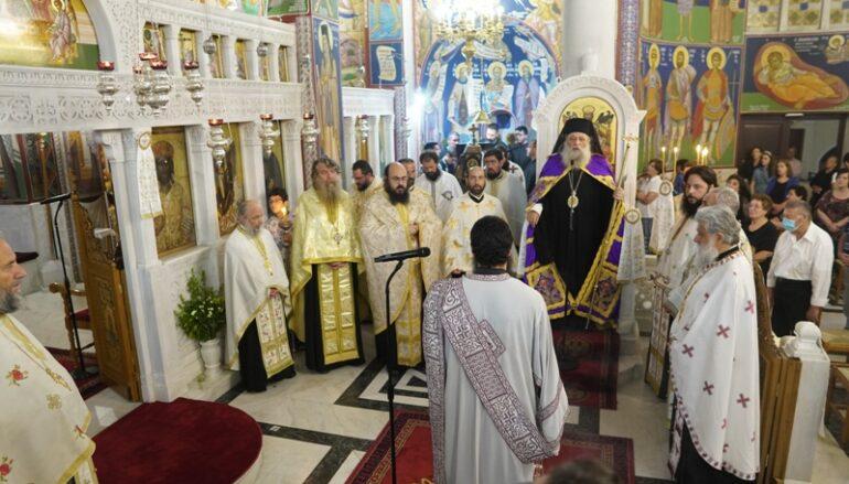 Λαμπρός ο Εσπερινός του Αγίου Νικοδήμου στη Νάξο