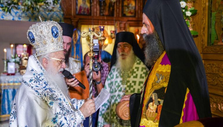 Ενθρονίστηκε ο νέος Ηγούμενος της Ι. Μονής Παναγίας Καλλίπετρας