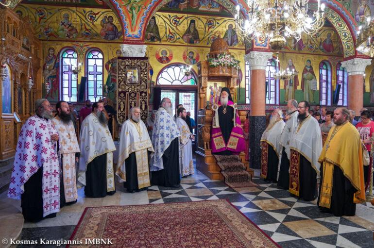 Αρχιερατικός Εσπερινός στην Ιερά Μονή Αγίας Κυριακής Λουτρού