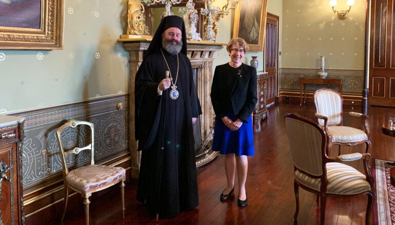 Συνάντηση του Αρχιεπισκόπου Αυστραλίας με την Κυβερνήτρια της Ν. Νοτίου Ουαλίας