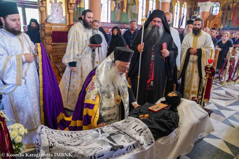 Εξόδιος Ακολουθία της Καθηγουμένης της Ι. Μονής Αγίας Κυριακής Λουτρού