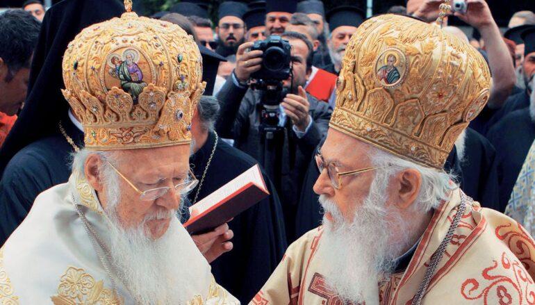 Ευχές για ταχεία ανάρρωση στον Αρχιεπίσκοπο Αλβανίας από τον Οικ. Πατριάρχη