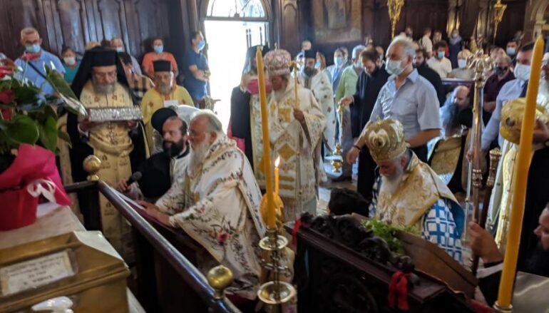 Εντός του Ναού η λιτάνευση του σκηνώματος Αγίου Σπυρίδωνος στην Κέρκυρα