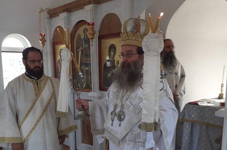 Αρχιερατική Θεία Λειτουργία στον Άγιο Μάρκο Οινουσσών