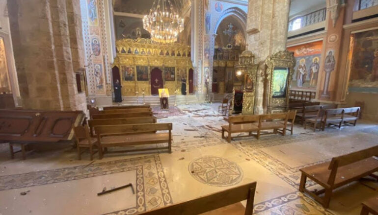 Υλικές ζημιές στον Καθεδρικό Ναό της Βηρυτού από την έκρηξη