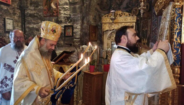 Ο Μητροπολίτης Θεσσαλιώτιδος στην Ι. Μονή Παναγίας «Σπηλιάς»