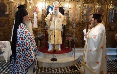 Ο Μητροπολίτης Σταγών στον Ιερό Ναό Αγίου Γεωργίου Καστανιάς