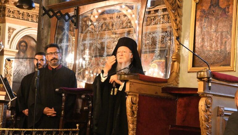 """Οικ. Πατριάρχης: """"Συνεχίζουμε να αγκαλιάζουμε όλους, εχθρούς και φίλους"""""""