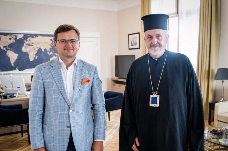 Συνάντηση του Μητροπολίτη Γαλλίας με τον Υπουργό Εξωτερικών της Ουκρανίας