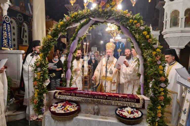 Προεόρτια Αγρυπνία στο Ι. Προσκύνημα Παναγίας Φανερωμένης Νέας Αρτάκης