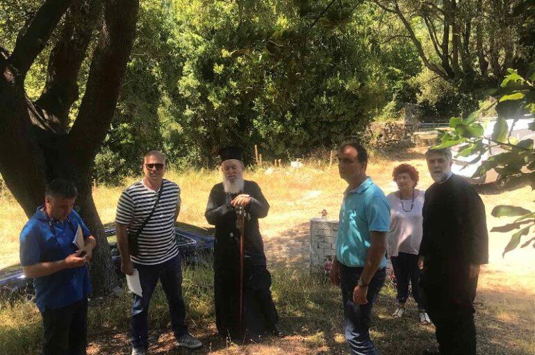 Σύσκεψη του Μητροπολίτη Χαλκίδος με φορείς για την αναστήλωση της Ι. Μ. Αγ. Νικολάου Σικελιώτου