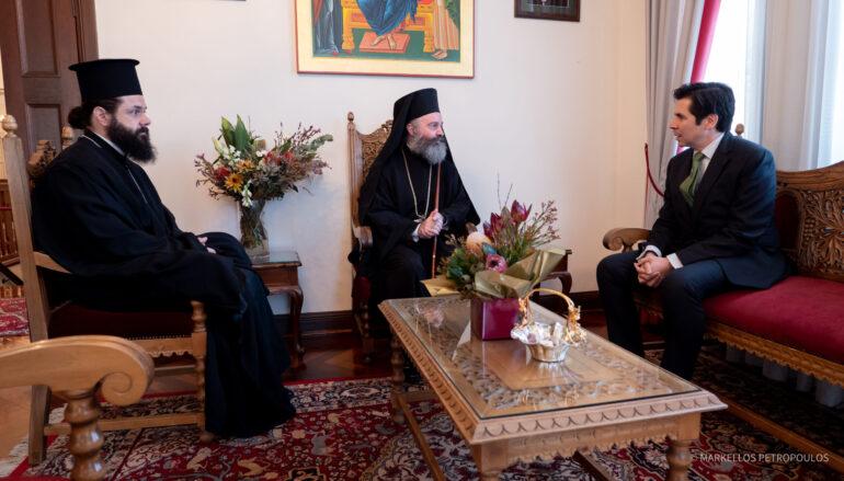 Συνάντηση του Αρχιεπισκόπου Αυστραλίας με τον Γεν. Πρόξενο