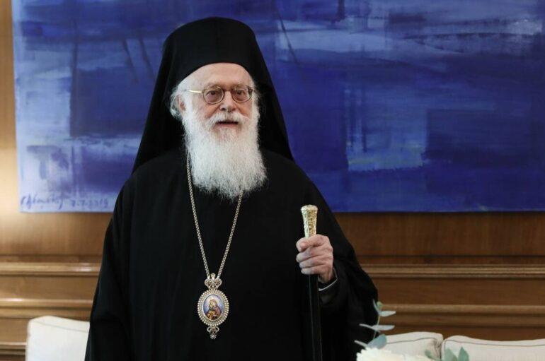 Ο Υπουργός Αποδήμων της Αλβανίας ευχαρίστησε τον Αρχιεπίσκοπο Αναστάσιο