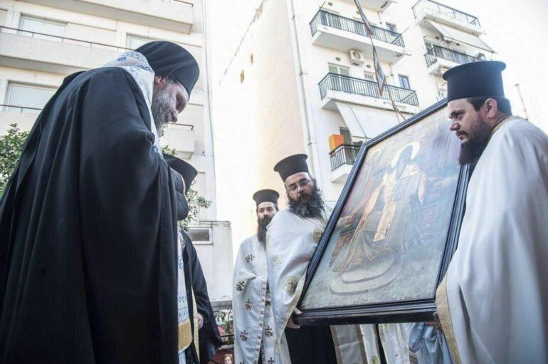 Δωρεά Θαυματουργού Εικόνος του Αγ. Σπυρίδωνος εκ Νεαπόλεως στην Ι. Μ. Νέας Ιωνίας