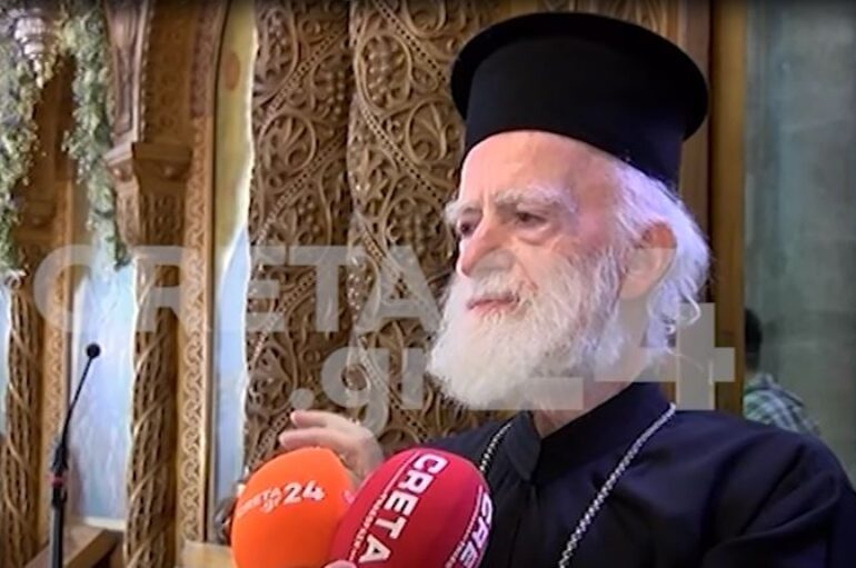 Το βίντεο με την δήλωση του Αρχιεπισκόπου Κρήτης για τις μάσκες