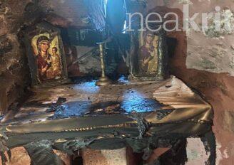 Σοκάρει βανδαλισμός Ναού της Παναγίας στο Ηράκλειο Κρήτης