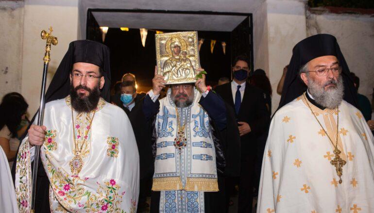 Αναχώρησε από το Μετόχι της Μεσσήνης η Εικόνα της Παναγίας Βουλκανιώτισσας