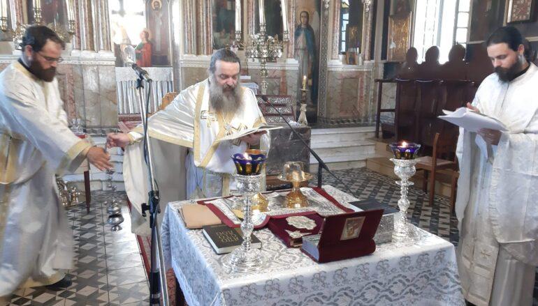 Αρχιερατική Θ. Λειτουργία Ευαγγελιστή Μάρκου στον Ι. Παρθενώνα Παναγίας Βοηθείας Χίου