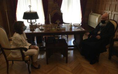 Συνάντηση Αρχιεπισκόπου με την Πρέσβειρα του Λιβάνου