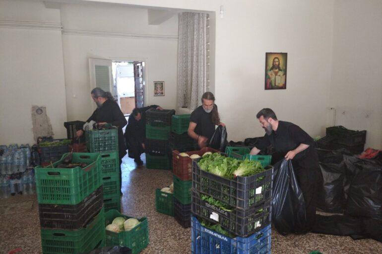 Αποστολή τροφίμων της Ι. Μ. Κίτρους στους πληγέντες της Καρδίτσας