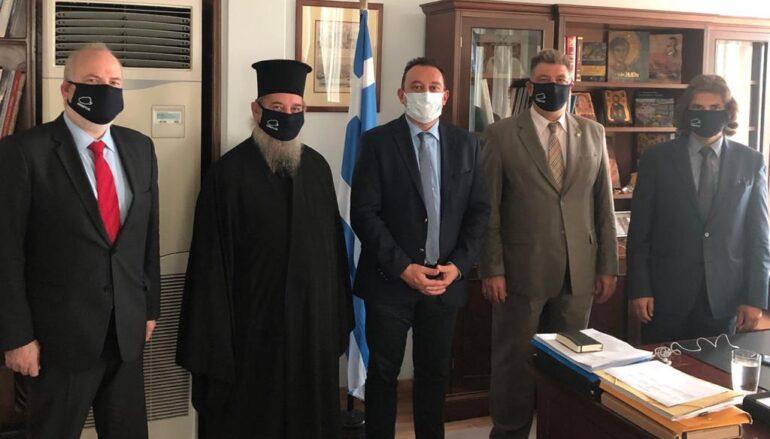 Ο Μητροπολίτης Ίμβρου και Τενέδου στον Υφυπουργό Εξωτερικών Κώστα Βλάση
