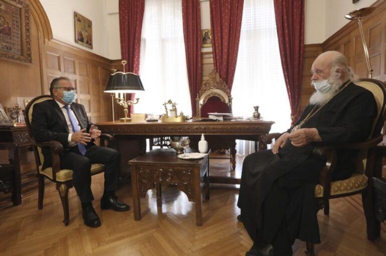 Συνάντηση Αρχιεπισκόπου με τον αναπληρωτή Υπουργό Μετανάστευσης και Ασύλου