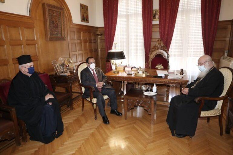 Στον Αρχιεπίσκοπο ο Μητροπολίτης Γαλλίας και ο Πρέσβης της Ελλάδας στο Βατικανό