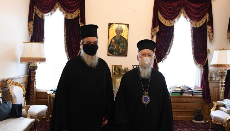 Ο Μητροπολίτης Κισάμου στον Οικουμενικό Πατριάρχη