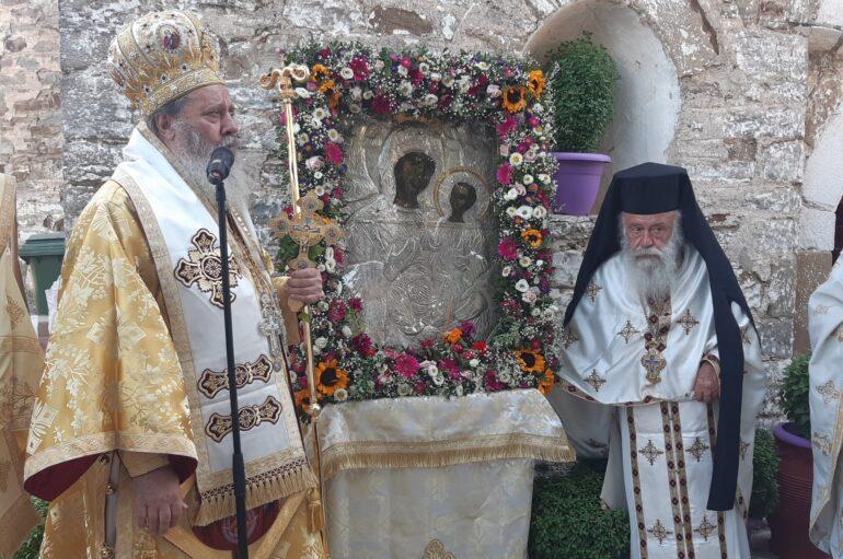 Ο Επίσκοπος Κερνίτσης στην Ι. Μονή Παναγίας Φιλοκαλιωτίσσης Αχαΐας