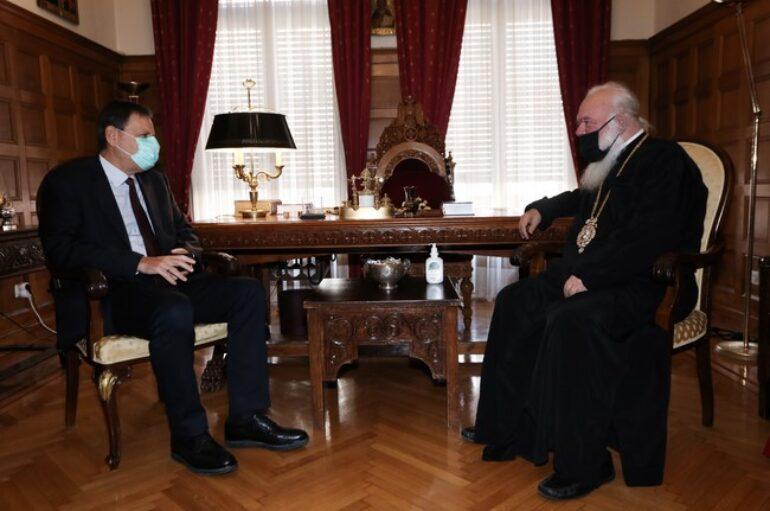 Ο Αναπληρωτής Υπουργός Οικονομικών στον Αρχιεπίσκοπο