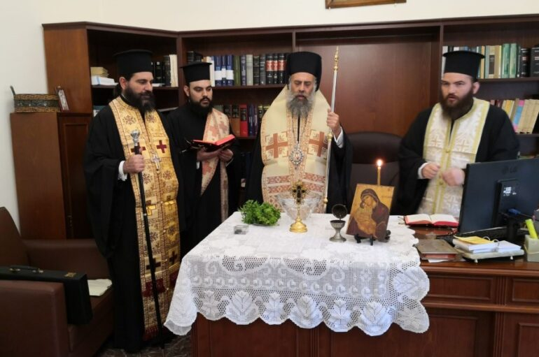 Αγιασμός από τον Μητροπολίτη Θεσσαλιώτιδος για το νέο Δικαστικό έτος