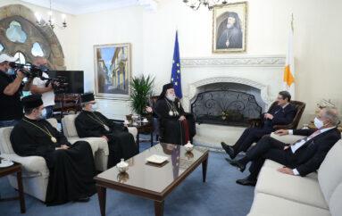 Ο Πατριάρχης Αλεξανδρείας στον Πρόεδρο της Δημοκρατίας της Κύπρου