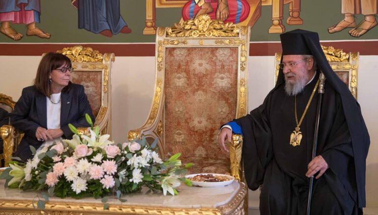 Η ΠτΔ στον Αρχιεπίσκοπο Κύπρου Χρυσόστομο