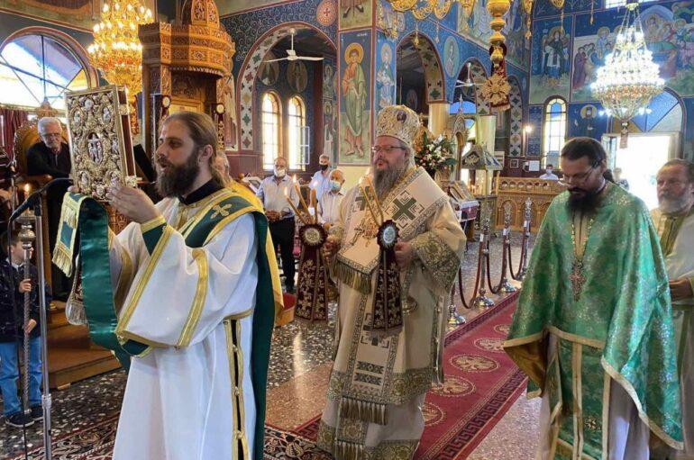 Ο εορτασμός του Αγίου Βησσαρίωνα στην Ι. Μητρόπολη Λαρίσης