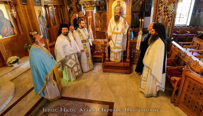 Ο Αρχιεπίσκοπος Καττάρων Μακάριος στον Ι. Ναό Αγίας Μαρίνης Ηλιουπόλεως