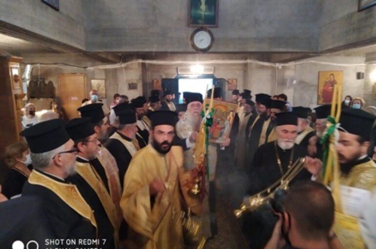 Tελετή ἀνυψώσεως Παρεκκλησίου σέ Ἐνορία στην Ι. Μ. Περιστερίου