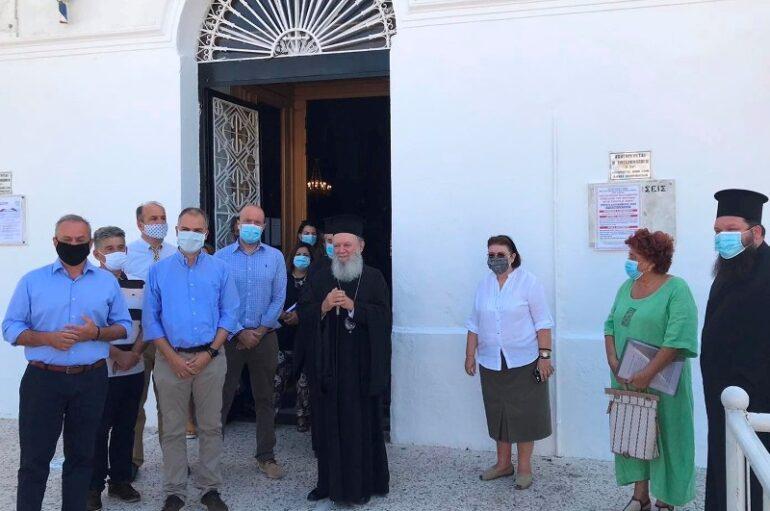 Η Υπουργός Πολιτισμού στον Παλαιοχριστιανικό Ναό Αγίας Παρασκευής Χαλκίδος