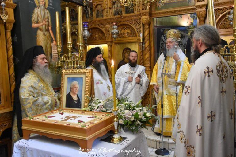 Ο Μητροπολίτης Χαλκίδος στην Ιερά Μονή Οσίου Δαυΐδ Ευβοίας