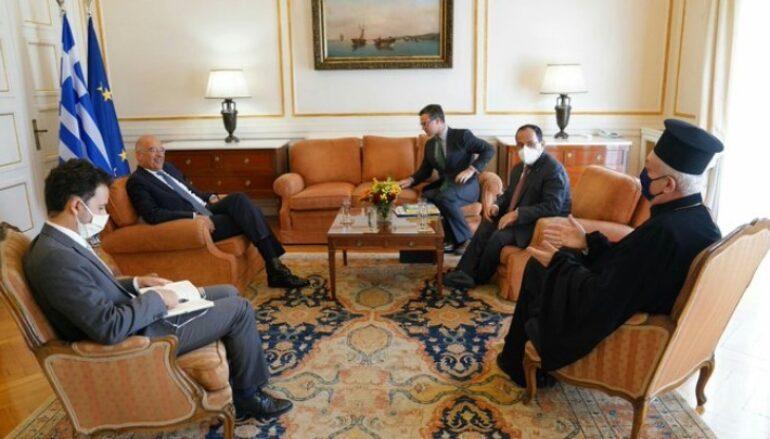 Συνάντηση του ΥΠΕΞ Ν. Δένδια με τον Μητροπολίτη Γαλλίας Εμμανουήλ