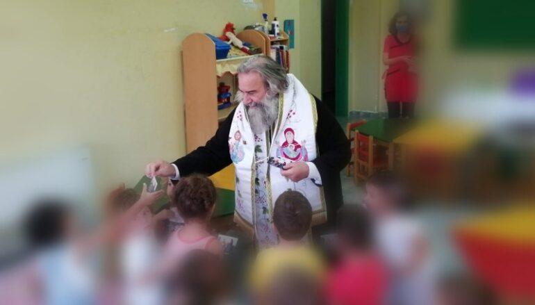 Αγιασμός για τη νέα σχολική χρονιά από τον Μητροπολίτη Μάνης Χρυσόστομο