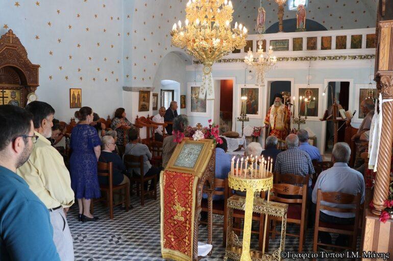 Αρχιερατική Θ. Λειτουργία στην αρχαία κωμόπολη Πύρριχος Μάνης