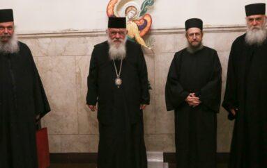 Στον Αρχιεπίσκοπο εκπρόσωποι της Ιεράς Κοινότητας του Αγίου Όρους