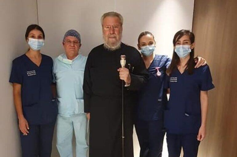 Εξιτήριο από την κλινική έλαβε ο Αρχιεπίκοπος Κύπρου Χρυσόστομος