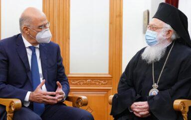 Στον Αρχιεπίσκοπο Αλβανίας ο ΥΠΕΞ Νίκος Δένδιας